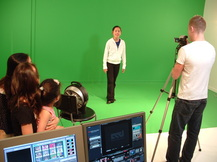green screen room for pop star video birthday parties