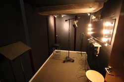 The vocal tracking booth in our recording studio in North Vancouver