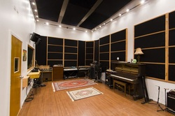 The grand piano in our big recording studio room