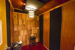 Sound proofing and acoustic paneling in our recording studio